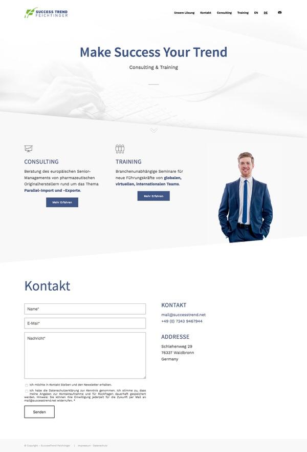 Webdesign für Successtrend in Karlsruhe