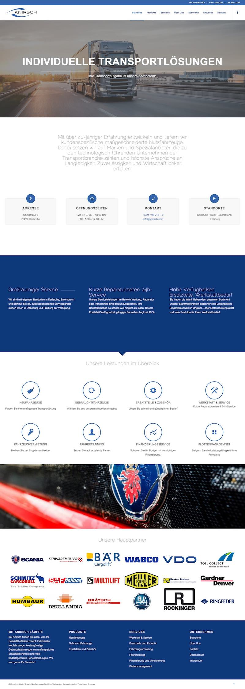Starke Fotos und frisches Design – die neue Website für Knirsch